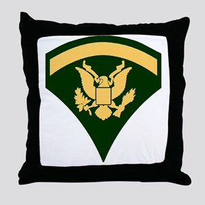 Army-SP5-Green-Four-Inches Throw Pillow