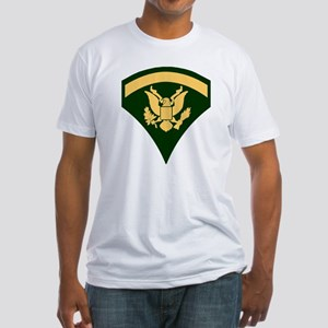 Army-SP5-Green-Four-Inches Fitted T-Shirt