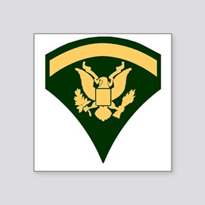 "Army-SP5-Green-Four-Inches Square Sticker 3"" x 3"""