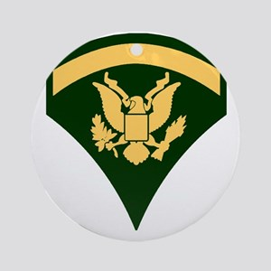 Army-SP5-Green-Four-Inches Round Ornament