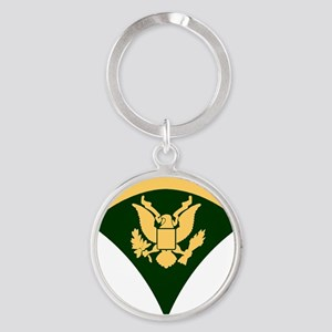Army-SP5-Green-Four-Inches Round Keychain