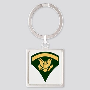 Army-SP5-Green-Four-Inches Square Keychain