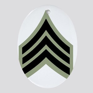 Army-SGT-Vietnam-Four-Inches Oval Ornament