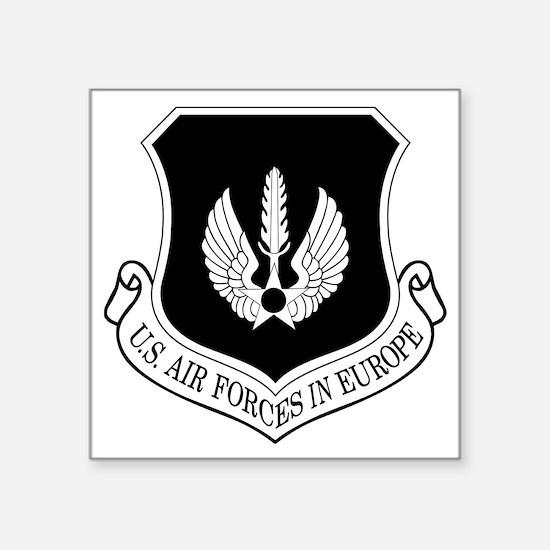 """USAF-USAFE-Shield-BW-Bonnie Square Sticker 3"""" x 3"""""""