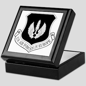 USAF-USAFE-Shield-BW-Bonnie Keepsake Box
