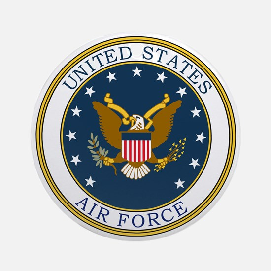 USAF-Patch-3 Round Ornament
