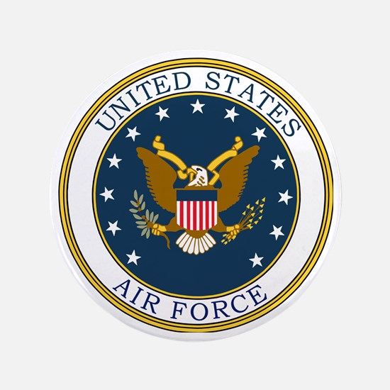 """USAF-Patch-3 3.5"""" Button"""