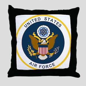 USAF-Patch-2 Throw Pillow
