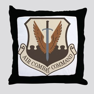 USAF-ACC-Shield-Desert Throw Pillow