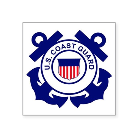 """USCG-Logo-Without-Date Square Sticker 3"""" x 3"""""""