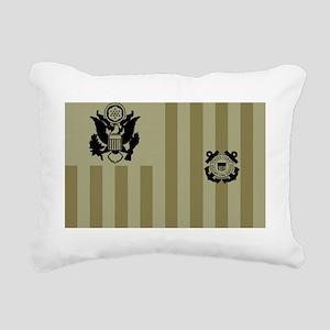 USCG-Flag-Ensign-Subdued Rectangular Canvas Pillow