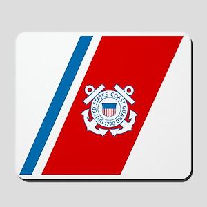 2-USCG-Racing-Stripe Mousepad