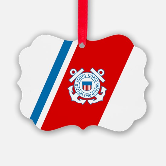 2-USCG-Racing-Stripe Ornament