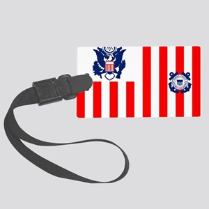 3-USCG-Flag-Ensign-Full-Color Large Luggage Tag