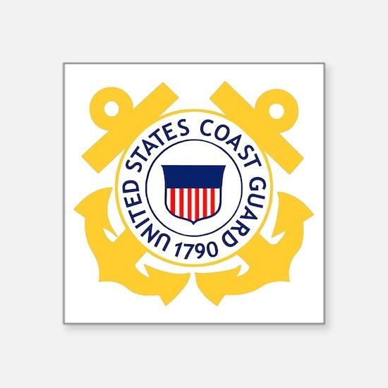 "USCG-Emblem Square Sticker 3"" x 3"""