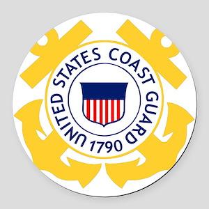 USCG-Emblem Round Car Magnet