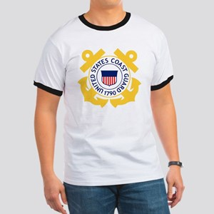 USCG-Emblem Ringer T