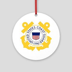 USCG-Emblem Round Ornament