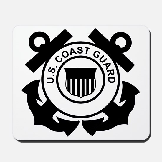 USCG-Logo-Without-Date-Black Mousepad