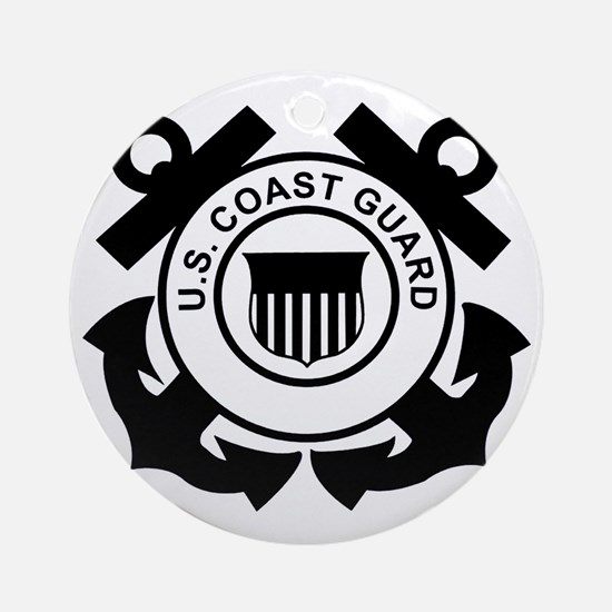 USCG-Logo-Without-Date-Black Round Ornament