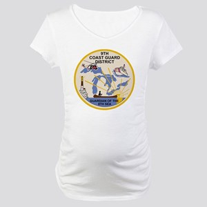 USCG-9th-CGD-Patch Maternity T-Shirt
