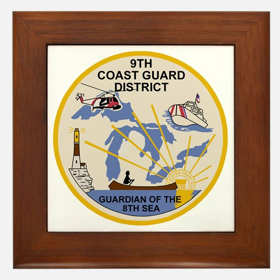 USCG-9th-CGD-Patch Framed Tile