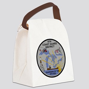 USCG-9th-CGD-Patch-Dark Canvas Lunch Bag