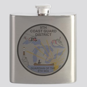 USCG-9th-CGD-Patch-Dark Flask
