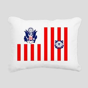 5-USCG-Flag-Ensign-Full- Rectangular Canvas Pillow