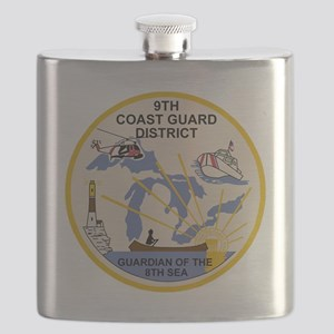 USCG-9th-CGD-Patch Flask