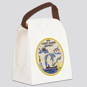 USCG-9th-CGD-Patch Canvas Lunch Bag