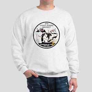 USCG-9th-CGD-Patch-Black-White Sweatshirt