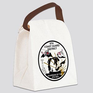 USCG-9th-CGD-Patch-Black-White Canvas Lunch Bag