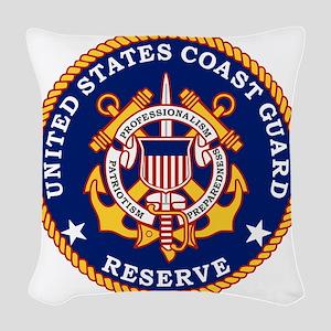 USCGR-Logo Woven Throw Pillow