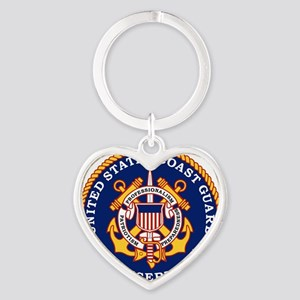 USCGR-Logo Heart Keychain