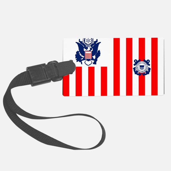 USCG-Flag-Ensign-Outlined Luggage Tag