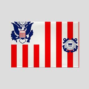 USCG-Flag-Ensign-Outlined Rectangle Magnet