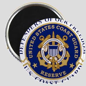 USCGR-Defending-Freedom-Circle Magnet