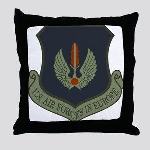 2-USAF-USAFE-Shield-Subdued Throw Pillow