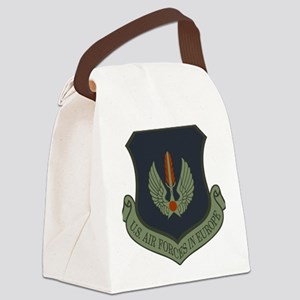 2-USAF-USAFE-Shield-Subdued Canvas Lunch Bag