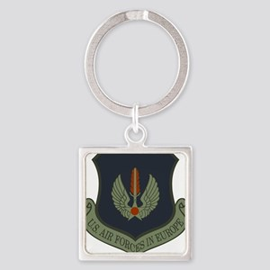 2-USAF-USAFE-Shield-Subdued Square Keychain