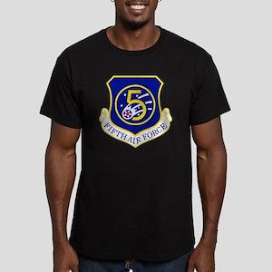 USAF-5th-AF-Shield Men's Fitted T-Shirt (dark)