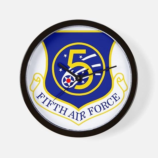 USAF-5th-AF-Shield Wall Clock