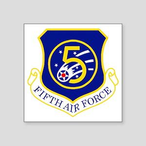 "USAF-5th-AF-Shield Square Sticker 3"" x 3"""