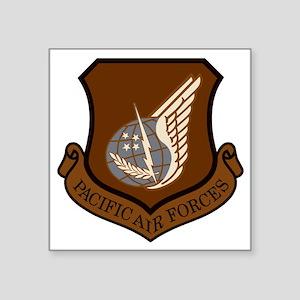 "USAF-PAF-Shield-Desert-X Square Sticker 3"" x 3"""