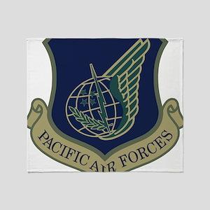 USAF-PAF-Shield-Subdued-x Throw Blanket