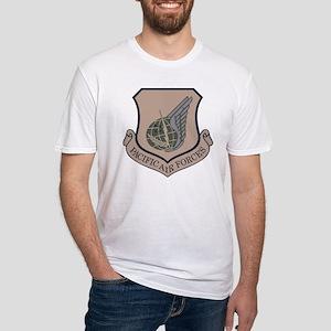 USAF-PAF-Shield-ABU Fitted T-Shirt