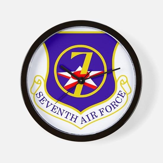 USAF-7th-AF-Shield Wall Clock