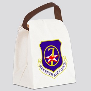 USAF-7th-AF-Shield Canvas Lunch Bag