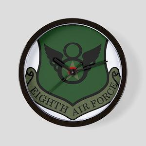 USAF-8th-AF-Shield-Subdued Wall Clock